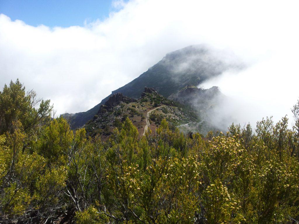Spektakulär zieht der Nebel über die Bergkämme nahe der Berghütte Casa do Abrigo beim Pico Ruivo (1.862 m).